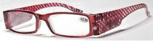 Reading glasses x 3.0  with Led lights . Red stripe
