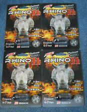RHINO 11 Platinum 50K Sexual Performance Male Enhancement 4 Pills