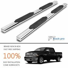 "For 2009-2017 Dodge Ram 1500 Crew Cab 5"" Oval Side Step Nerf Bar Running board"