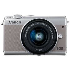 CANON EOS M100 Mirrorless Camera EF-M15-45 IS STM Lens Kit Gray Japan Ver. New