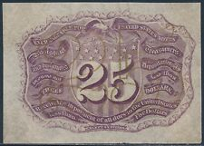 Fr1291-Sp 25¢ Fractional Note Proof Specimen Red Reverse W/O Surcharge Bs9393A