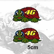 "Valentino Rossi TURTLE Sticker Vinyl Decal 46 Tartaruga Classic 5cm / 2"" (Br)"