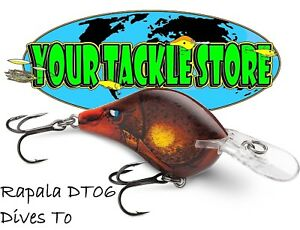 Rapala DT06 Dives To Pick Color & Qty NIP Factory Direct