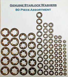 Starlock Washers Internal Tooth Star Lock Clips 10 x 3,4,5,6,8,10,12&16mm 80PCE