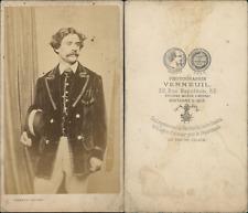 Verneuil, Paris, acteur à identifier Vintage CDV albumen carte de visite. CD
