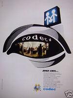 PUBLICITÉ 1969 CODEC AYEZ L'OEIL NOUVELLE ENSEIGNE - ADVERTISING