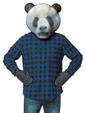 Panda Bear Head Photo Print Mask Kit &  Paws Halloween Dress Up Rasta Imposta