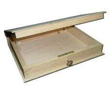Plain Wooden Box Hinged Lockable Jewellery Book Box Decoupage Storage (PD4)