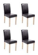 4er Set Esszimmerstühle Küchenstühle Stuhl Kunstleder Holz natura braun #Ina