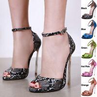 Womens Platform Pumps Stiletto High Heels Ankle Strap Sandals Party Dress Shoes