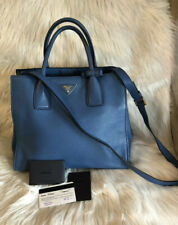 Authentic Prada Вителло daino двойной карман 2-Way сумка