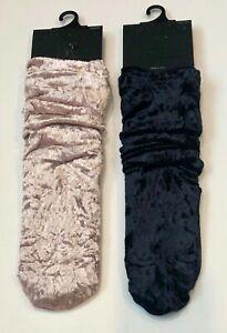 INC Women's Velvet Slouchy Crew Socks