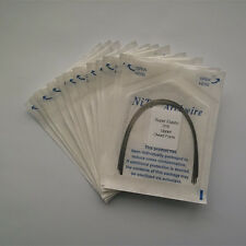 10 Packs Dental Orthodontic Super Elastic Niti Arch Wires Round Ovoid Form U / L