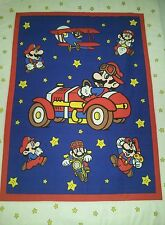 SUPER MARIO NINTENDO CRIB QUILT BLANKET PERSONALIZE + ACCENT PILLOW COVER