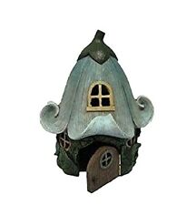 Fairy Garden House With Lily Flower Roof Figurine Miniature Decor New Free Ship