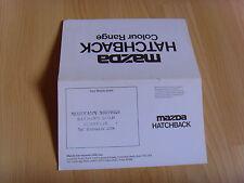Mazda Hatchback Colour Chart Brochure excellent condition 1979