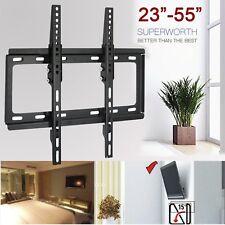 """Ultra Slim Tilt  TV Wall Mount Bracket 23 26 32 42 48 50 55"""" LED LCD 3D Plasma"""
