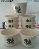 OVEN SERVE USA POTTERY CHICKEN ROOSTER COCK CUP DISH SET OF 9