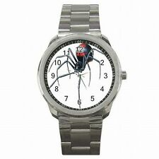 Black Widow Redback Spider Halloween Stainless Steel Watch