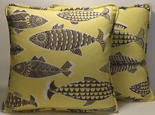 "Fish Decorative Throw Pillows  2 18"" Tommy Bahama Fishful Thinking Throw Pillows"