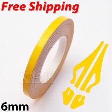 "6mm x 9.8m Pinstriping Pin Stripe Vinyl Tape Decal Sticker Car Line 1/4"" Yellow"