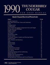 1990 Ford Thunderbird Shop Service Repair Manual Engine Drivetrain Electrical