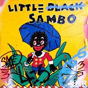 CORBELLIC ART, ORIGINAL PAINTING, VINTAGE BLACK ART, SAMBO REFERENCE, MODERN ART