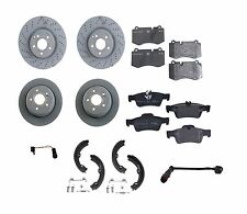 Mercedes W216 CL550 S400 S550 Set of 2 Front + 2 Rear Disc Brake Rotors + Pads
