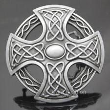 Western Cowboy Silver Celtic Trinity Knot Cross Rodeo Belt Buckle Line Dance