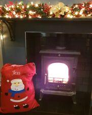 Personalised Embroidered Large Stocking Father Christmas Xmas Santa Sack