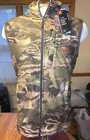 NWT Men's Under Armour ColdGear Forest Camo Hunting Fleece Vest Size: Medium