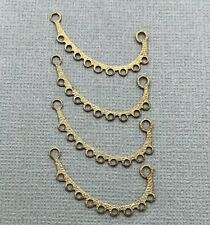 Chandelier Earring Pendants (Bp76) 4 Vintage Brass Multi-Connector