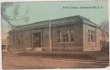 RICHMOND HILL CARNEGIE LIBRARY BY LEIGHTON & VALENTINE, SEPIA TONE QUEENS LI, NY