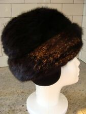 Vintage BROOKS BROTHERS MINK Hat  - box style w ear flaps Brown Sz 7 EX++ WOW