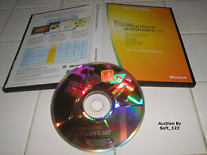 MS Microsoft Office 2007 Home and Student for 3 PCs Full Retail English Version