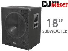 "QTX QT18SA 18"" 1000 WATT ACTIVE POWERED SUBWOOFER BASS BIN DJ PA CLUB 170.755uk"