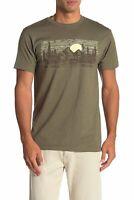 Mens Mountain Horizon Graphic Short Sleeve Crew Neck T-Shirt Tee