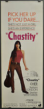 CHASTITY 14X36 ORIGINAL ROLLED MOVIE POSTER 1969 CHER SONNY BONO BARBARA LONDON