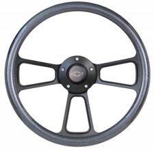 Chevy Truck w/ GM, Ididit Column Steering Wheel Kit Carbon Fiber Plastic & Black