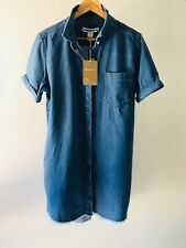 Country Road CR Love Sz 10 12 14 Denim Frey Hem Shirt Dress S M L 10