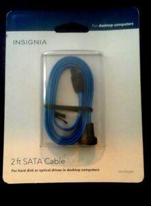 Insignia 2' Right-Angle Serial ATA (SATA) 2.0 Cable, Black - New