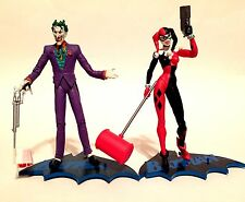 DC Direct 2004 Harley Quinn + Joker Batman Hush Series Loose Figures w/bases