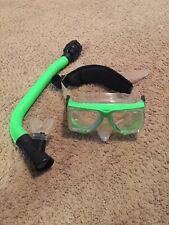 New listing Ocean Master Z4 Equalizer Purge Tempered Glass Dive Mask Q-Strap With Snorkel.