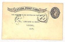 UU528 1899 Canada Ontario Postcard Postal Stationery {samwells-covers}