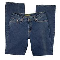 David Kahn Women's 8 Jeanswear Straight Leg Medium Wash Denim Pants Blue