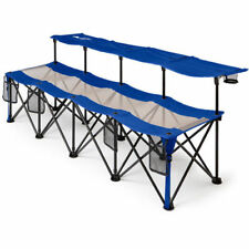 Camping Bench Seat Chair Folding Outdoor Portable Sports 4 Person Soccer w/ Bag