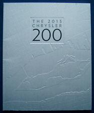 Prospekt brochure 2013 Chrysler 200 (USA)
