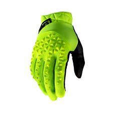 100% Geomatic Adult Gloves Fluo Yellow Mountain Bike Downhill MTB DH Enduro