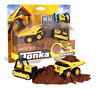 Tonka Metal Movers Combo Pack Mighty Dump & Bulldozer, Dumper Truck Toy for Kids
