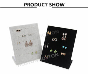 Earring  Jewellery Velvet Display Stand Storage Tray Case Holder Stand 30 Pairs